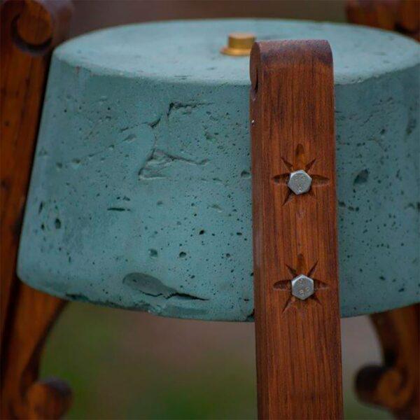 Lámpara de sobremesa Esmorguiña gris A Vida-1512