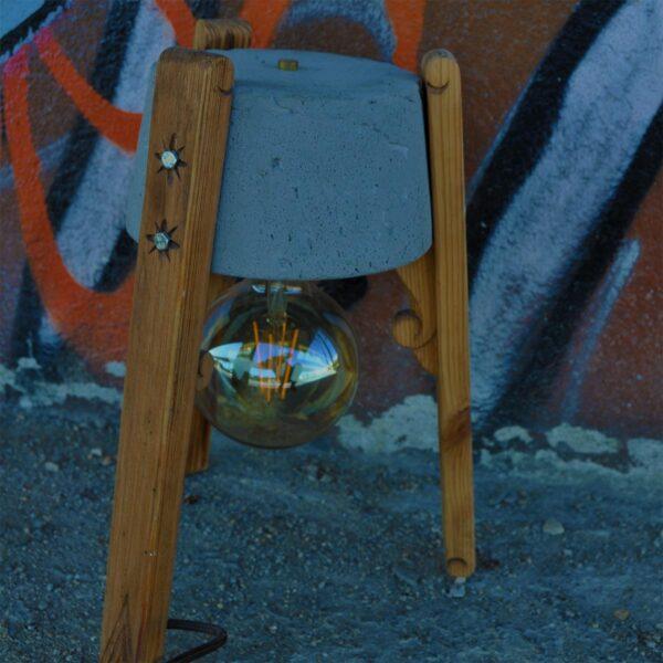 Lámpara de sobremesa Esmorguiña gris A Vida-1514