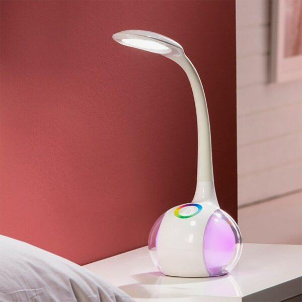 Lámpara de sobremesa LED blanco Schuller-1181