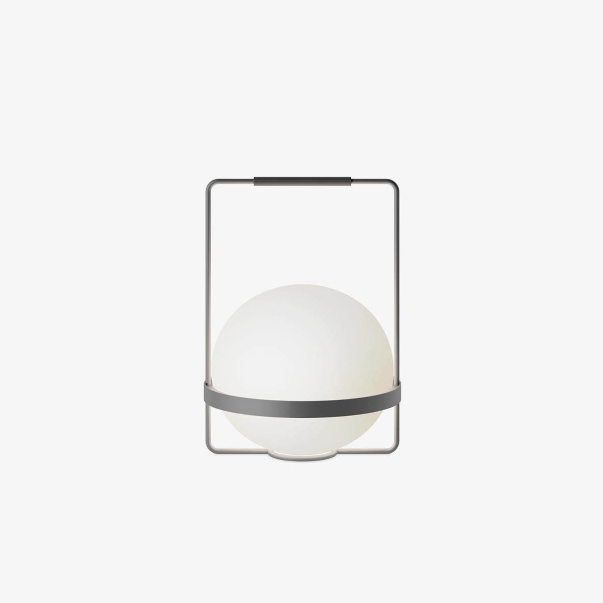 Lámpara de sobremesa Palma esfera grafito Vibia-0