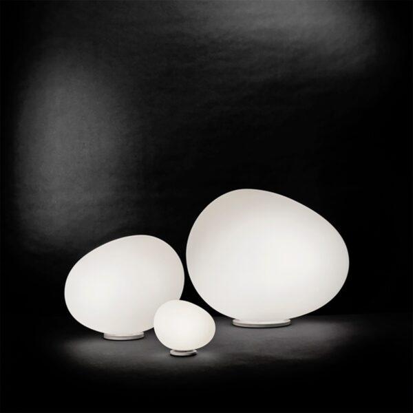 Lámpara de suelo exterior Gregg Terra grande blanco Foscarini-1164