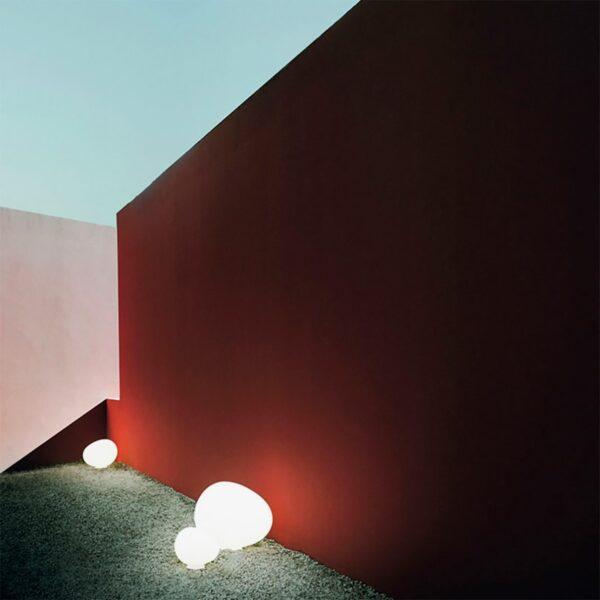 Lámpara de suelo exterior Gregg Terra media blanco Foscarini-1169