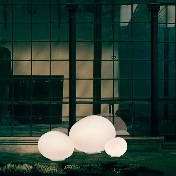 Lámpara de suelo exterior Gregg Terra XL blanco Foscarini-1160