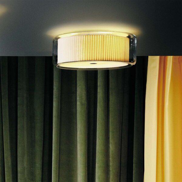Lámpara de techo plafón Mercer C algodón crudo Marset-1176