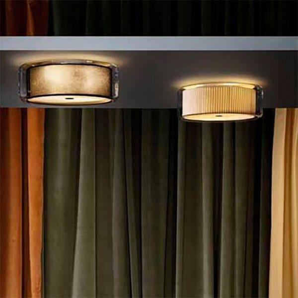 Lámpara de techo plafón Mercer C algodón crudo Marset-1178