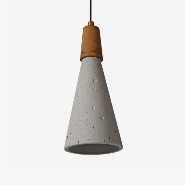 Concrete and wood ceiling cone