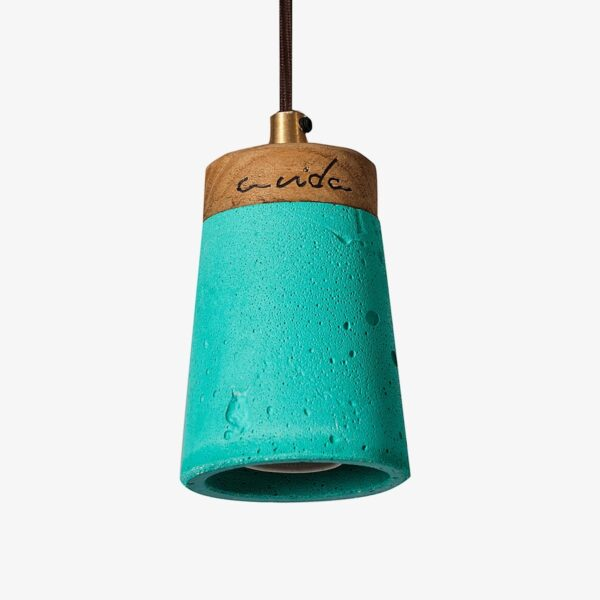 Lámpara de cemento verde