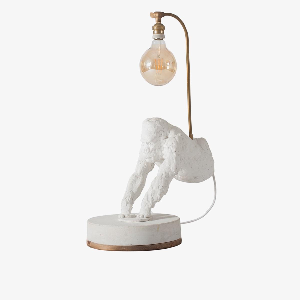 Lámpara de sobremesa Gorila blanco | Personalizable | A Vida