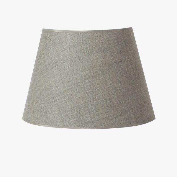 Pantalla Oxford tejido poliester y lino gris con vetas doradas 45 cm