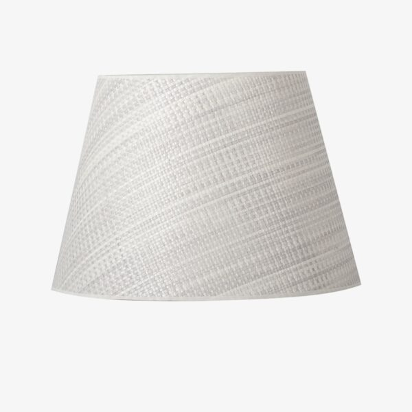 Pantalla Roma tejido celulosa blanco | Diámetro 45 cm