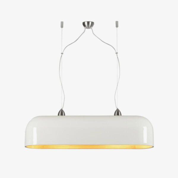 Lámpara colgante ovalada Halong blanco | Good and Mojo