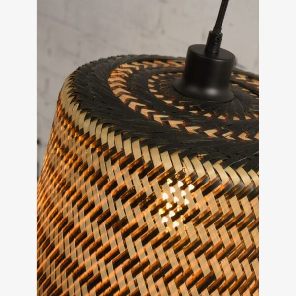 Lámpara colgante Kalimantan L H65 natural y negro | Ø37 cm | Good and Mojo