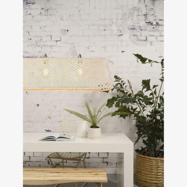 Lámpara colgante Komodo blanco y níquel | Good and Mojo