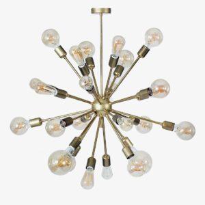 Lámpara colgante Deloriam latón 24 bombillas | Luz & Ambiente Selection