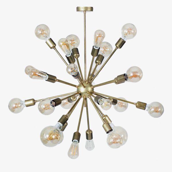 Lámpara colgante Deloriam latón 24 bombillas   Luz & Ambiente Selection