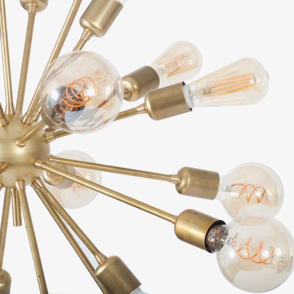 Lámpara colgante Deloriam latón 24 bombillas