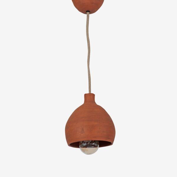 Lámpara de barro custom