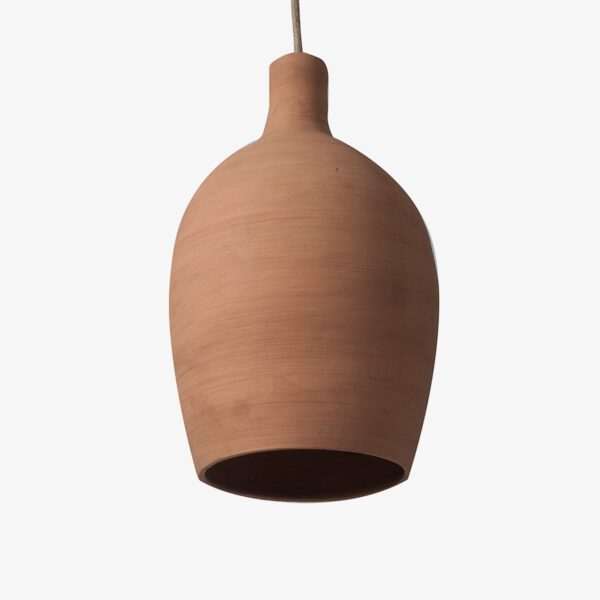 Lámpara colgante custom de barro