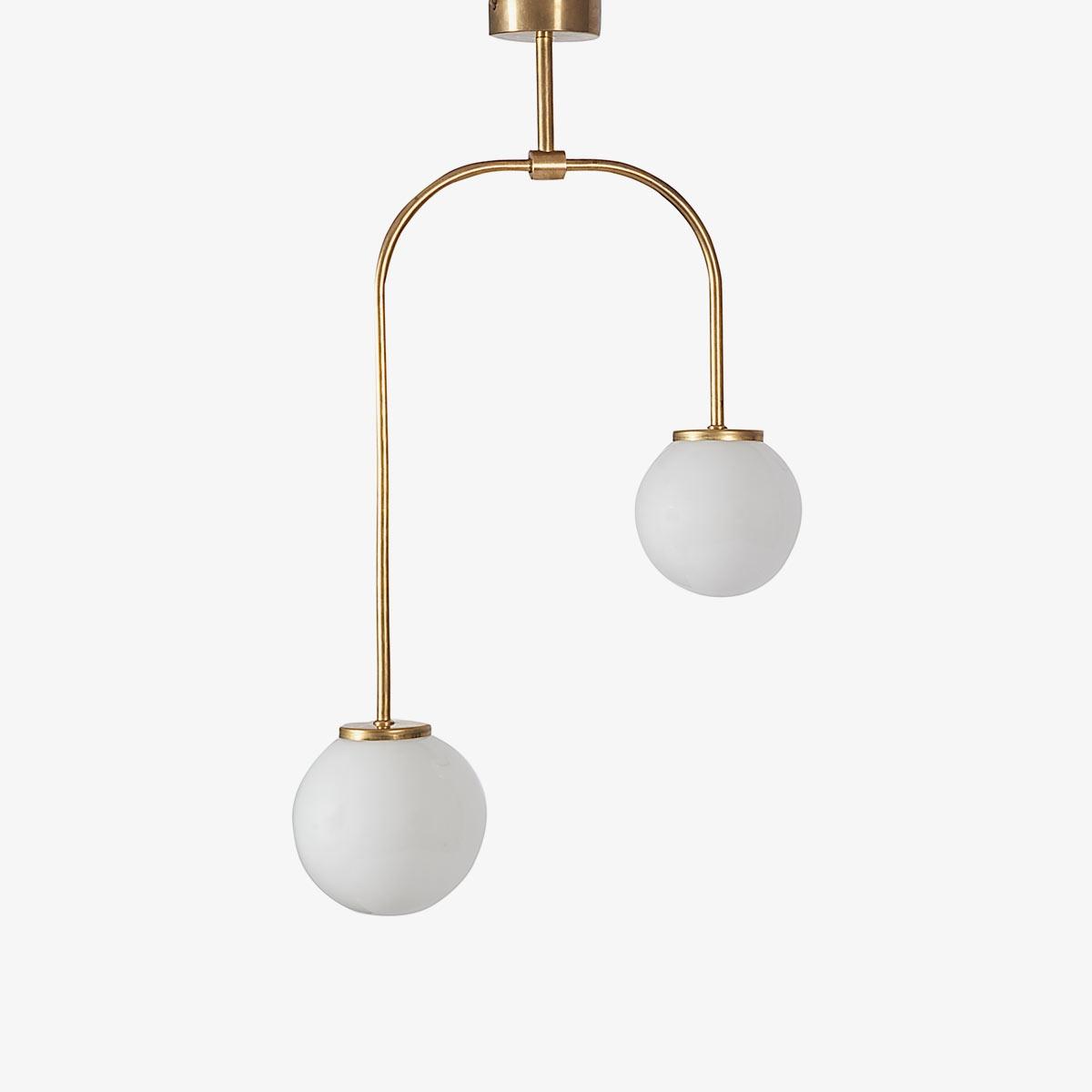 Plafón custom dos luces latón | L&A Selection