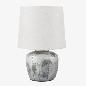 Lámpara de sobremesa plata gastada
