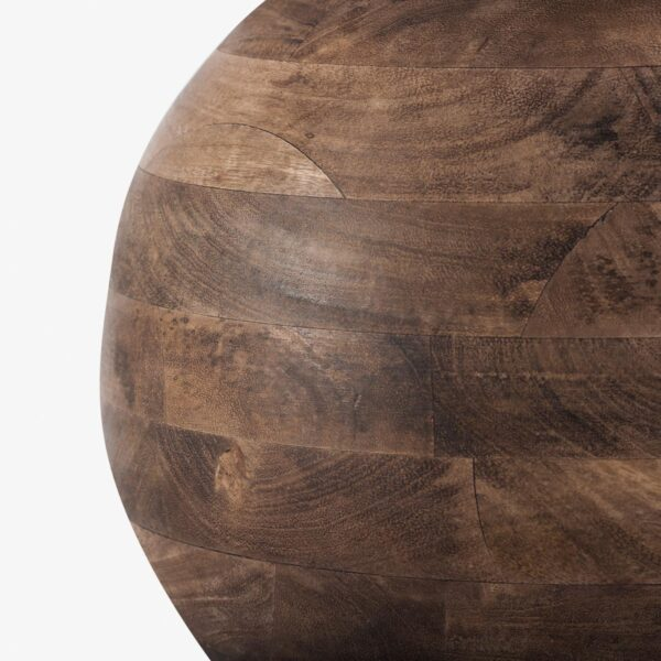 Lámpara de sobremesa bola en madera