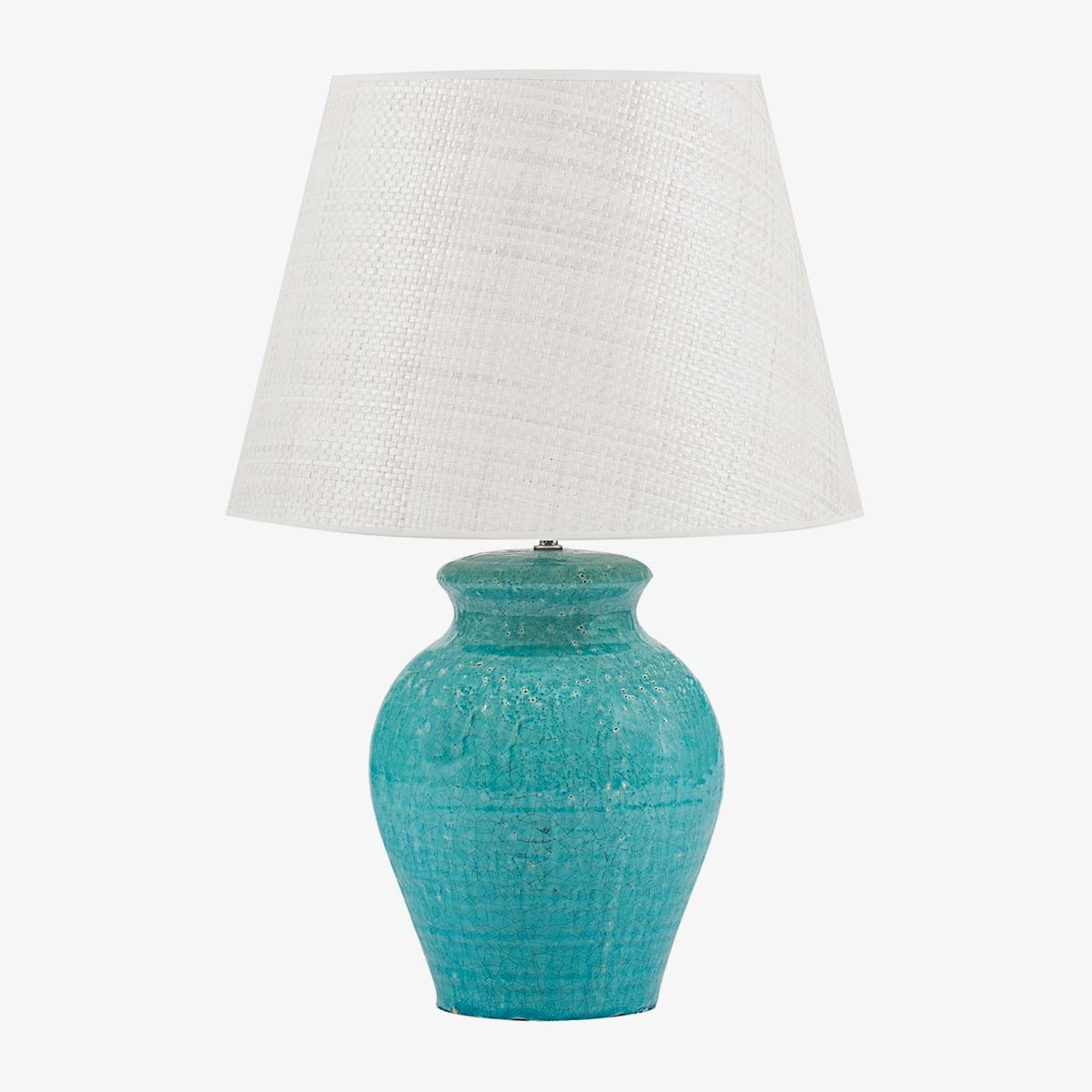 Lámpara de sobremesa tinaja azul