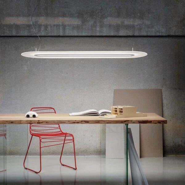 Lámpara colgante Opti-Line DALI blanco-2263