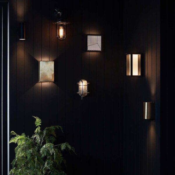 Philips Hue Impress aplique de pared cuadrado exterior negro-2338