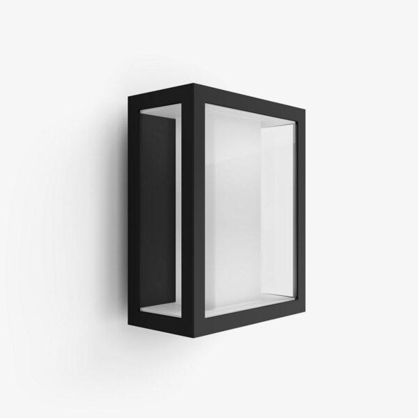 Philips Hue Impress aplique de pared cuadrado exterior negro-0