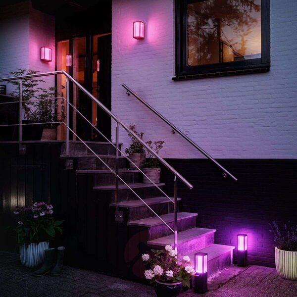 Philips Hue Impress aplique de pared exterior negro-2331