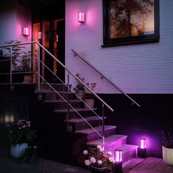 Philips Hue Impress pedestal exterior negro-2333