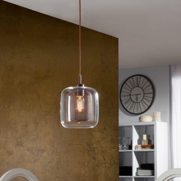 Lámpara colgante Fox 1L chocolate Schuller-2395
