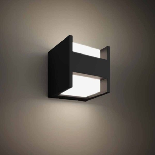Philips Hue Fuzo aplique de pared exterior negro-2423