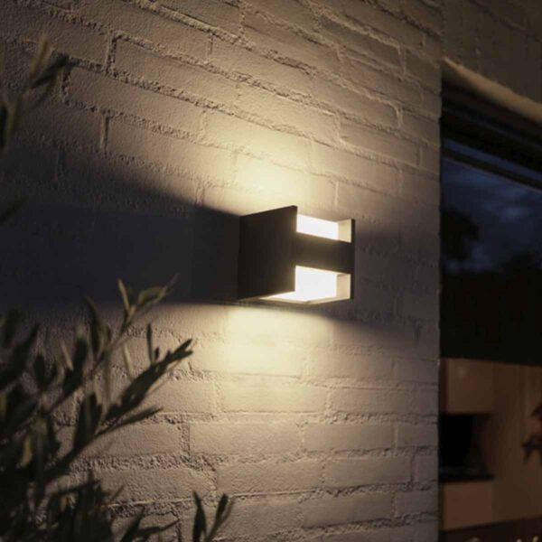 Philips Hue Fuzo aplique de pared exterior negro-2424