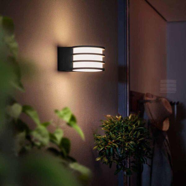 Philips Hue Lucca aplique de pared exterior negro-2414