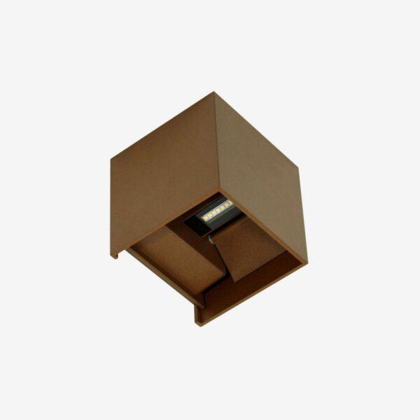 Aplique LED decorativo exterior óxido
