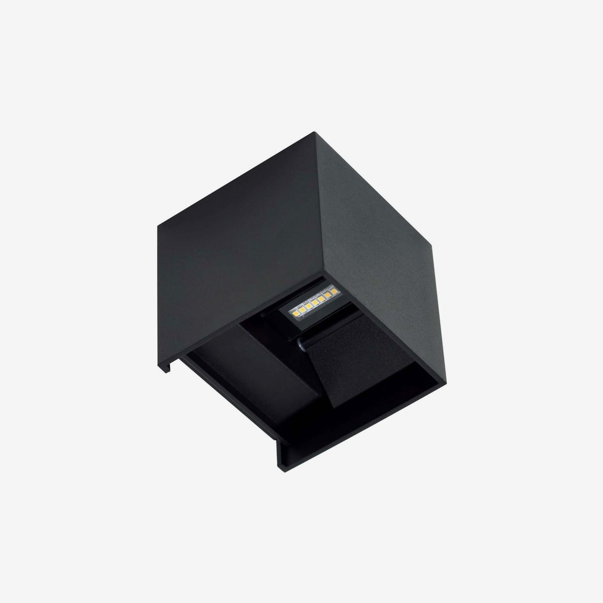 Aplique LED decorativo exterior antracita
