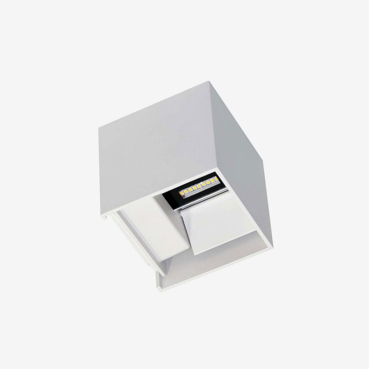 Aplique LED decorativo exterior blanco