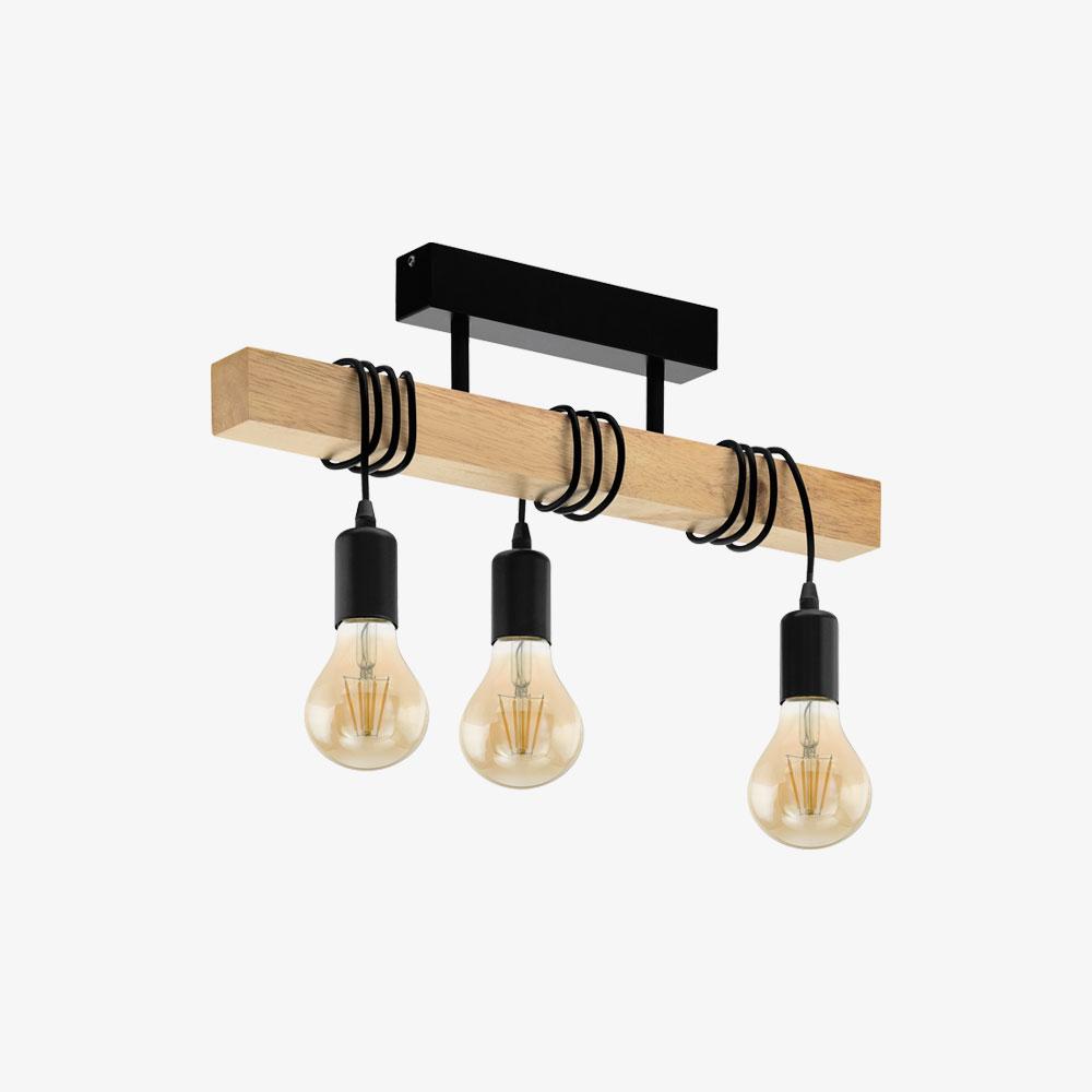 lampara-colgante-townshend-negro-y-madera-eglo-foto-1