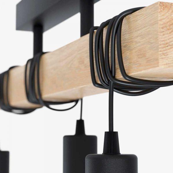 lampara-colgante-townshend-negro-y-madera-eglo-foto-2