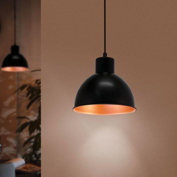 lampara-colgante-truro-2-negro-y-cobre-eglo-foto-3