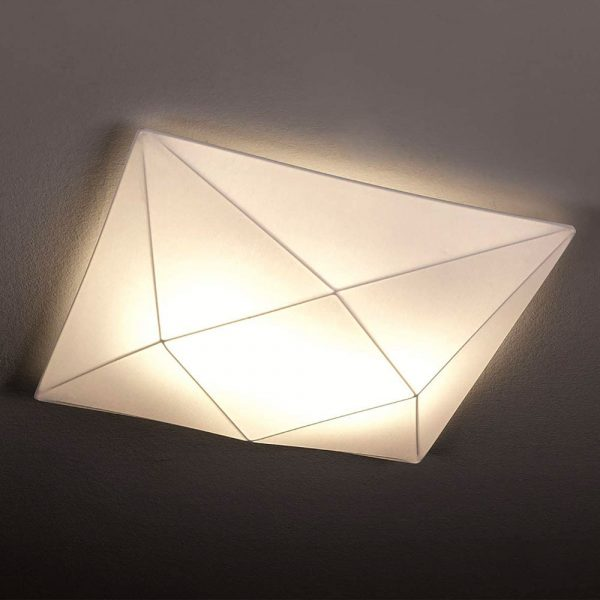 Lámpara de techo plafón Polaris blanco 02