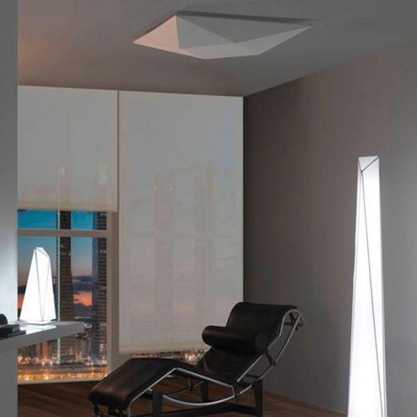Lámpara de techo plafón Polaris blanco 03