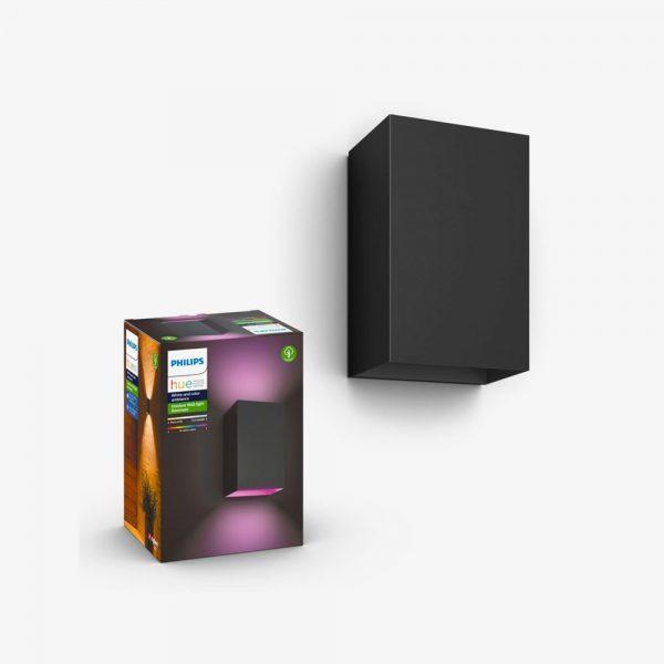 aplique-de-pared-exterior-resonate-negro-philips-hue-foto-1