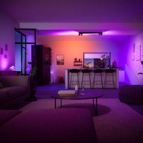 lampara-de-techo-plafon-cuatro-focos-centris-led-negro-philips-hue-foto-3
