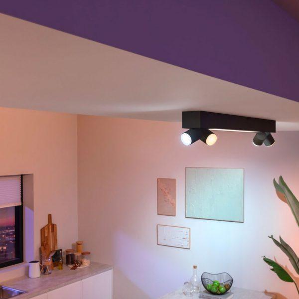 lampara-de-techo-plafon-cuatro-focos-centris-led-negro-philips-hue-foto-4