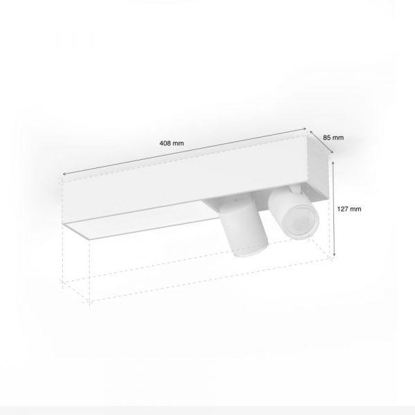 lampara-de-techo-plafon-dos-focos-flourish-led-blanco-philips-hue-foto-2