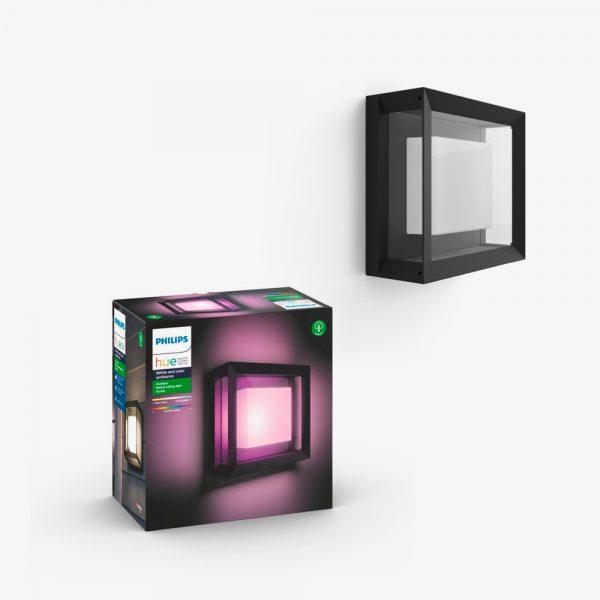 plafon-exterior-cuadrado-econic-negro-philips-hue-foto-2