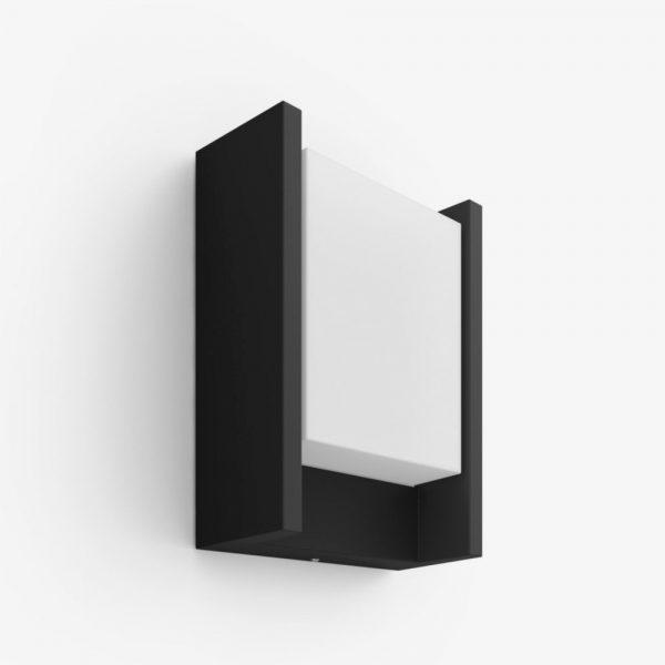aplique-de-pared-exterior-fuzo-led-rectangular-negro-philips-hue-foto-1