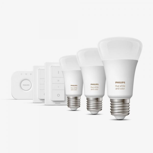 kit-3-bombillas-bluetooth-philips-hue-led-e27-y-puente-luz-blanca-y-color-foto-2
